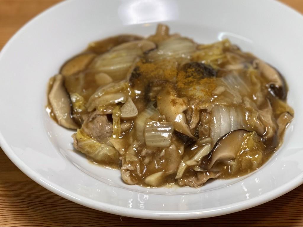 345、カレー風味の白菜の旨煮